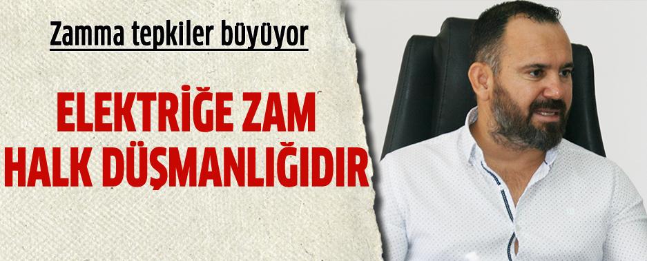 """KTAMS Başkanı Bengihan:' Asgari ücretin belirlenmediği yerde elektriğe zam halk düşmanlığıdır"""""""