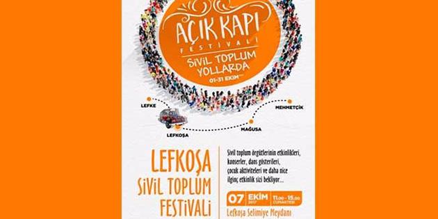 İkinci Açık Kapı Festivali Cumartesi Selimiye Meydanı'nda başlıyor