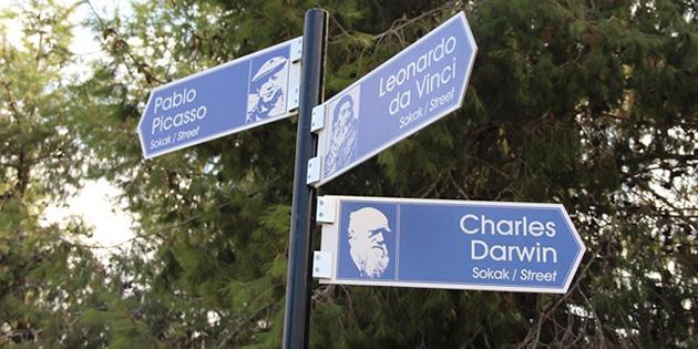 DAÜ'de cadde ve sokaklara bilim ve sanat insanlarının adları verildi