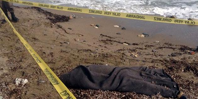 Karaoğlanoğlu plajında bulunan cesedin 45-55 yaşlarında erkek olduğu belirlendi