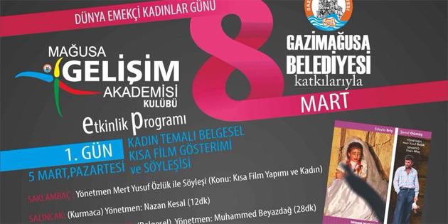 Gazimağusa Belediyesi 8 Mart Dünya Kadınlar Günü nedeniyle 3 film gösterdi