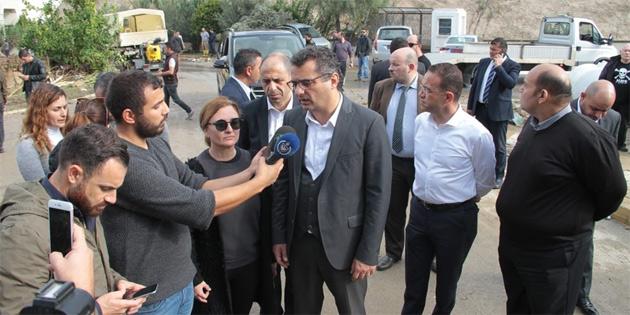 Başbakan Erhürman ile Başbakan Yardımcısı Özersay, Alsancak ve Lapta'ta incelemelerde bulundu