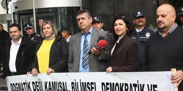 KTÖS ve KTOEÖS Vizyon 2030 Eğitim Strateji Planı Çalıştayı'nı protesto etti