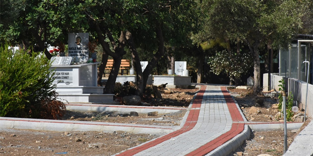 Zeytinlik Mezarlığı'nda altyapı çevre ve peyzaj düzenleme projesi çalışması başlatıldı