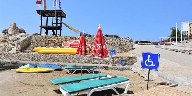 Kervansaray ve Karaoğlanoğlu (Antis) Halk Plajı'nda, deniz sezonu kapandı