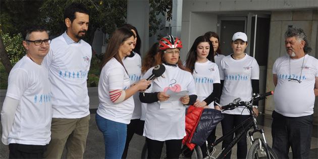 """KTTB """"Dünya Kadınlar Günü"""" ve """"Dünya Böbrek Günü"""" nedeniyle bisiklet sürme etkinliği düzenledi"""