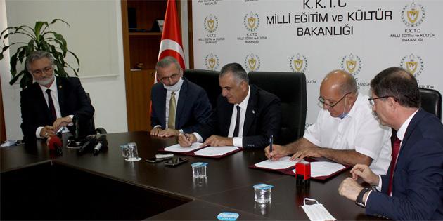 Vakıflar İdaresi finansmanıyla yapılacak İskele Kolej Binası için protokol imzalandı
