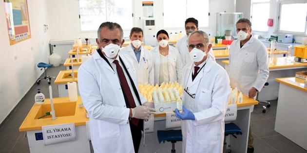 Çavuşoğlu, kolonya üreten TMK'yı ve maske üretimi yapan meslek liselerini ziyaret etti