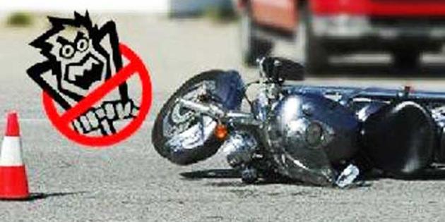 Girne'de trafik kazasında motosiklet sürücüsü ağır yaralandı