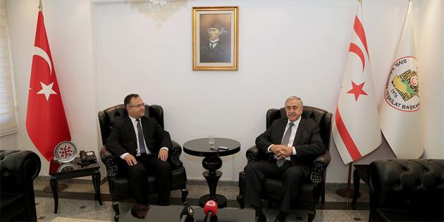 Akıncı, Sivil Savunma Teşkilat Başkanı Çelebi'yi ziyaret etti