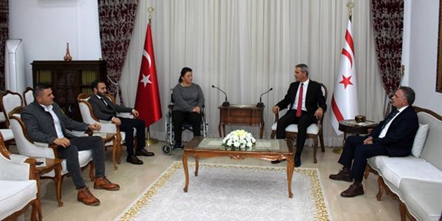 Meclis Başkanı Uluçay, Engelliler Spor Federasyonu'nu kabul etti