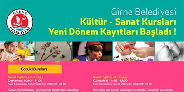 Girne'de kültür ve sanat kursları yeni dönem kayıtları başladı