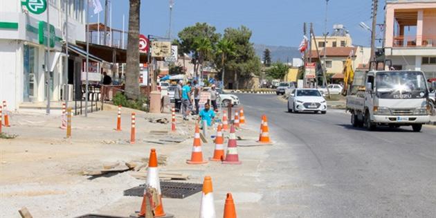 İskele Belediyesi kanalizasyon çalışmaları devam ediyor