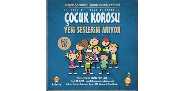 Lefkoşa Belediye Orkestrası Çocuk Korosu yeni seslerini arıyor