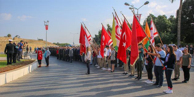 Atatürk 81.ölüm yıldönümünde Gazimağusa'da da törenle anıldı
