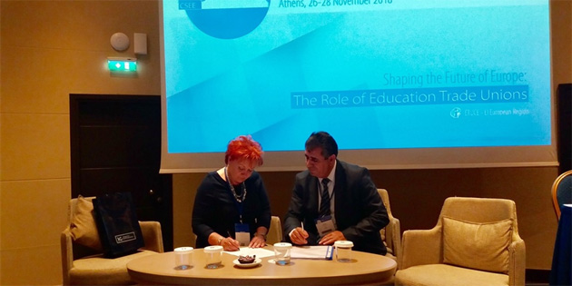 """KTÖS,""""Öğretmen Değişim Programı"""" anlaşması imzaladı"""