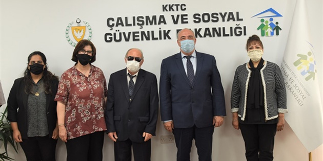 Çağman, Kıbrıs Türk Engelliler Federasyonu yetkilileri ile engelli sorunlarını görüştü