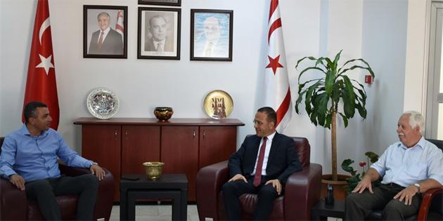 Tarım Bakanı Şahali, Kamu İş'in yeni yönetimiyle görüştü