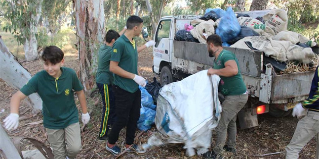 Ayluga Göleti'nde çevre temizliği yapıldı