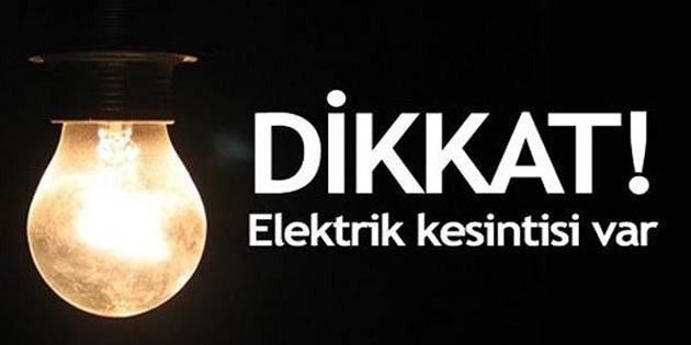 Turunçlu bölgesinde 7 saatlik elektrik kesintisi