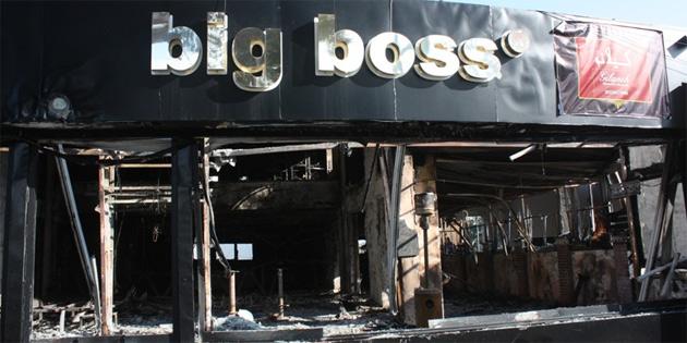 Gazimağusa'da kundaklanan barda bir kişi yanarak yaşamını kaybetti