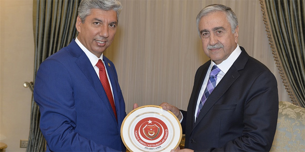 Cumhurbaşkanı Akıncı, TEMAD heyetini kabul etti