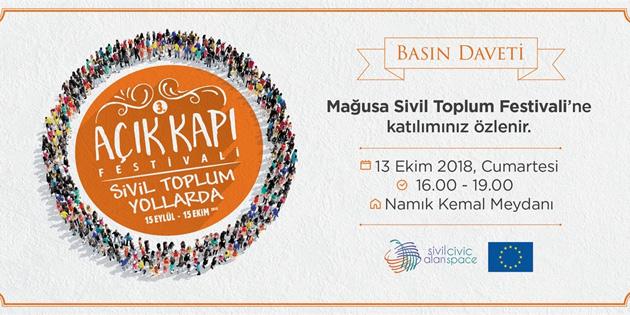 Mağusa Sivil Toplum Festivali Namık Kemal Meydanı'nda