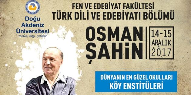 Yazar Osman Şahin, DAÜ'lülerle buluşacak