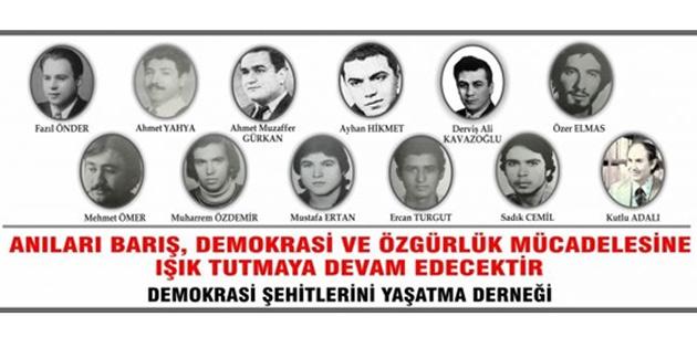 Demokrasi Şehitleri Cumartesi anılıyor
