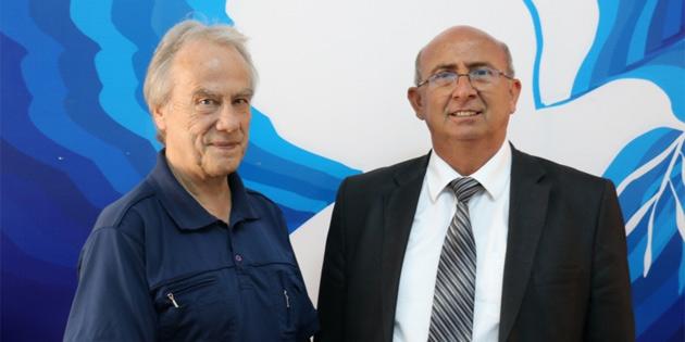 Özyiğit, Uluslararası Barış Bürosu eş Başkanı Braun ile görüştü