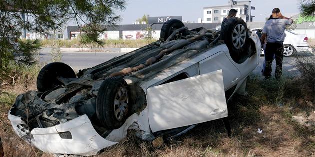 Girne-Lefkoşa anayolunda kaza