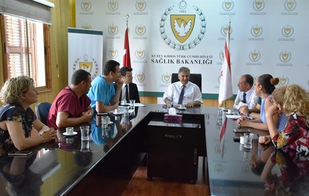 Sağlık Bakanı Pilli, TIP-İŞ yetkilileriyle görüştü