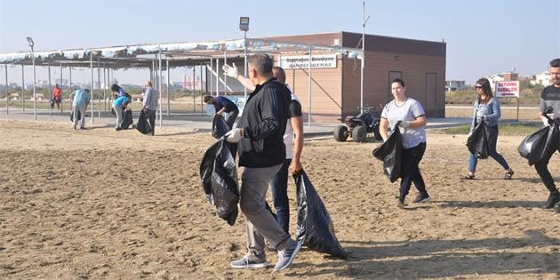 Glapsides plajı ve bölgesinde temizlik etkinliği düzenledi
