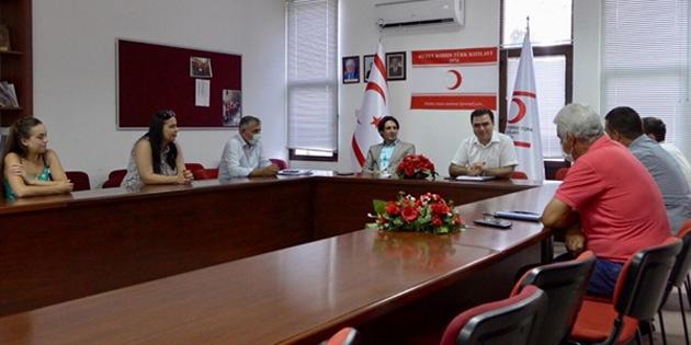Kuzey Kıbrıs Türk Kızılayı'nda görev dağılımı yapıldı