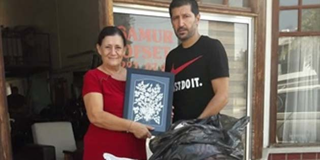 KKTC Cimnastik Federasyonu KHYD'ye kıyafet yardımında bulundu