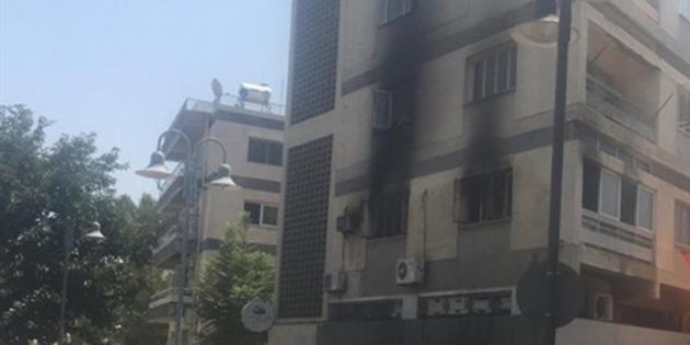 Lefkoşa'da apartman dairesinde yangın
