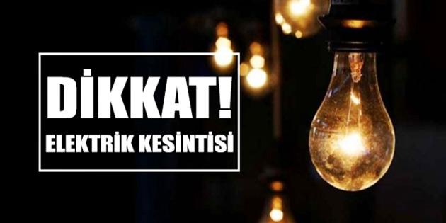 Gönendere bölgesinde elektrik kesintisi