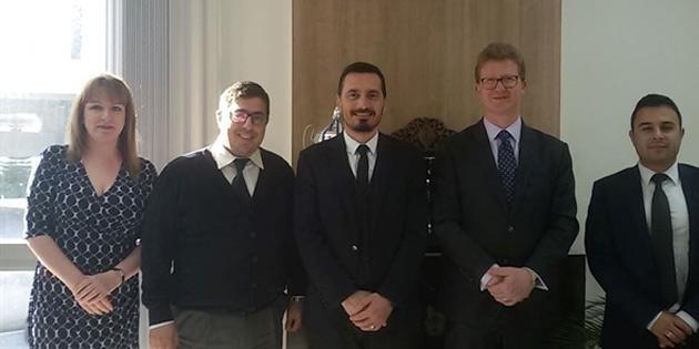 İngiliz Yüksek Komiseri'nden Barolar Birliğine ziyaret