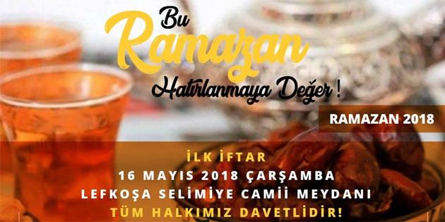 Vakıflar'ın ilk iftar yemeği Selimiye Meydanı'nda
