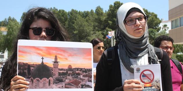 İsrail saldırıları DAÜ'de protesto edildi