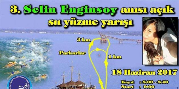 """""""3. Selin Enginsoy Anısı'na Açık Su Yüzme Yarışı"""" Pazar günü yapılacak"""