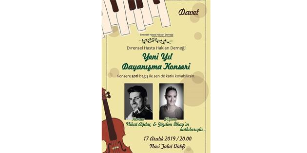 Evrensel Hasta Hakları Derneği'ne katkı amacıyla konser düzenlenecek