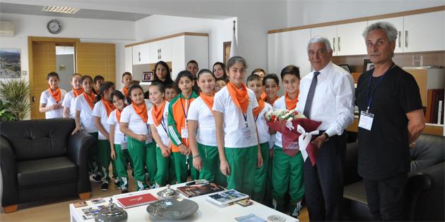 Çocuklar Güzelyurt Belediyesi'ni Aydın'da temsil edecek