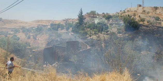 Degirmenlik - Alevkayası yolunda yangın
