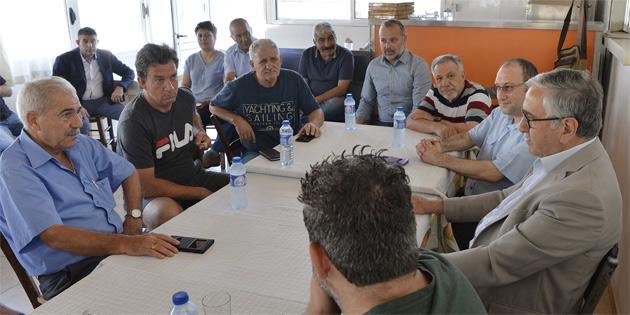 Akıncı Taşkınköy Spor Kulübü'nü ziyaret etti