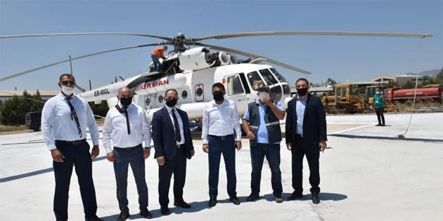 Oğuz, Türkiye tarafından ülkeye yangın söndürme helikopteri konuşlandırıldığını açıkladı