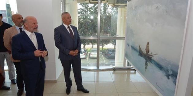 Kırgızistanlı 8 ressamın Kıbrıs Modern Sanat Müzesi için hazırladığı sergi açıldı