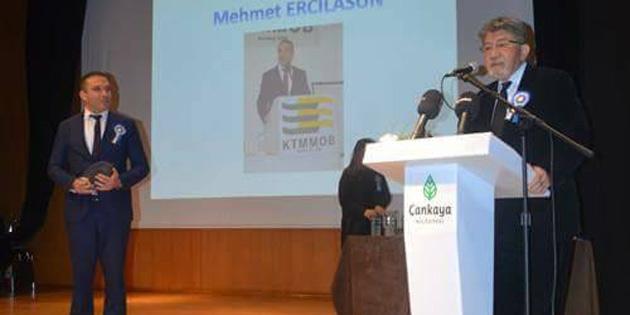 ZMO Başkanı Ercilasun'a Ziraat Mühendisliği Özel Ödülü