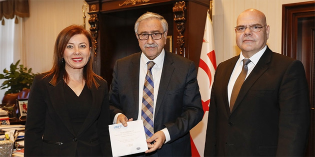 Akıncı JCI Derneği Başkanı Kurnaz'ı kabul etti