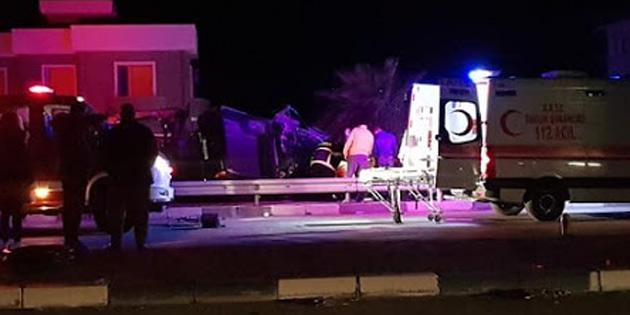 Gazimağusa-İskele ana yolunda iki kazada biri ağır iki yaralı